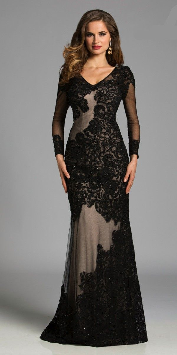 17 Best images about evening dresses with sleeves on Pinterest | A ...