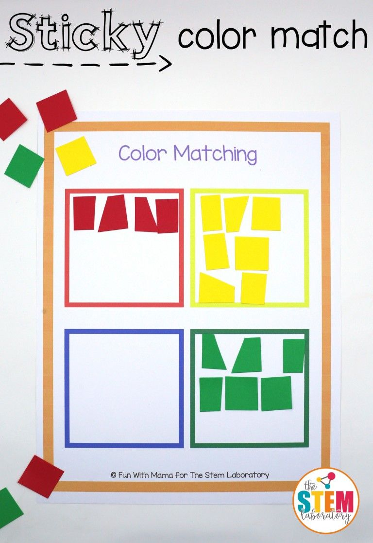 Sticky color match up! What an awesome twist on color sorting! Make ...