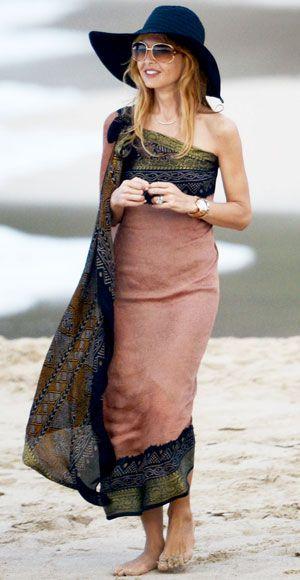 Look of the Day photo   Rachel Zoe's One-Shoulder Sarong Dress