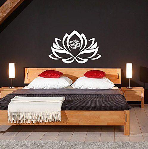 Wandtattoo Mandala Om Lotus Blume Ornament Indisch Muster Namaste - fototapete für schlafzimmer