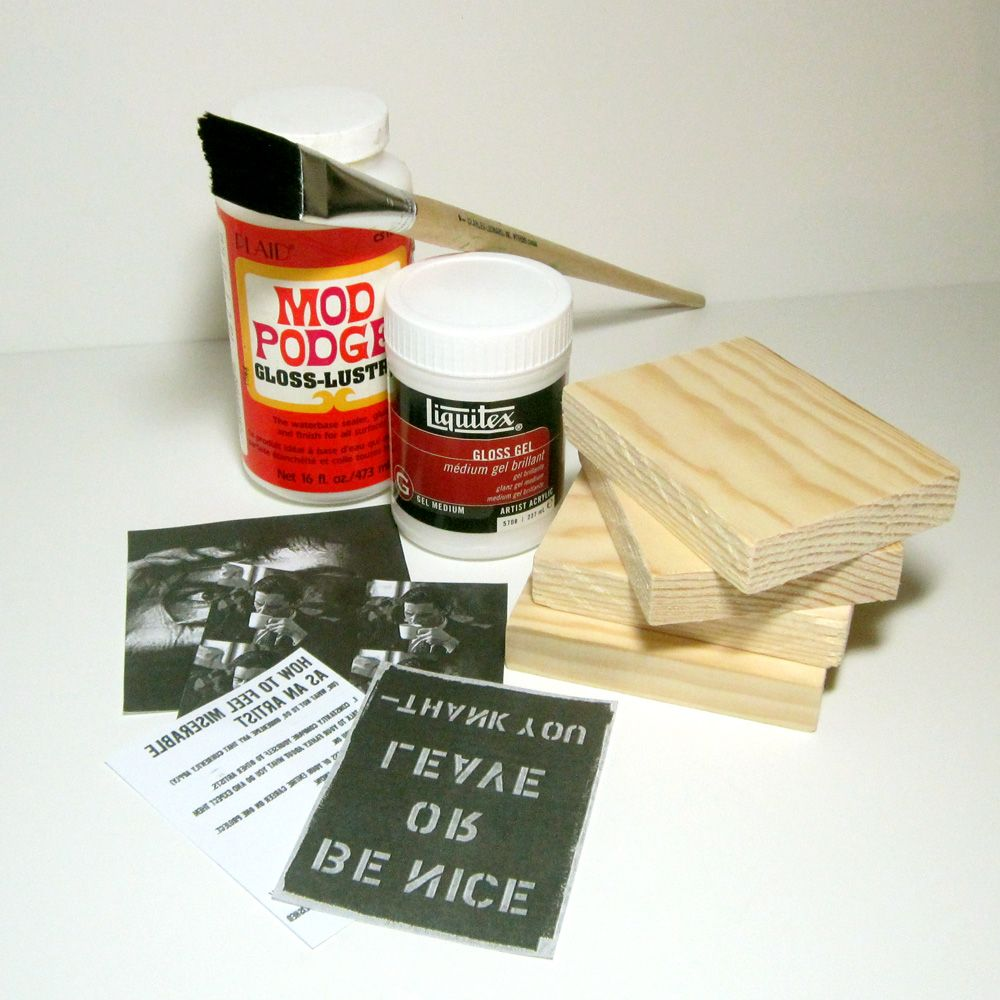 How To Wood Block Photo Transfers Picture On Wood Gel Medium