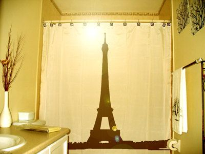 Genial Eiffel Tower Shower Curtain Paris France Bathroom Decor Kids Bath La Tour  Gustave Eiffel Champ De Mars Iron Lattice Unique