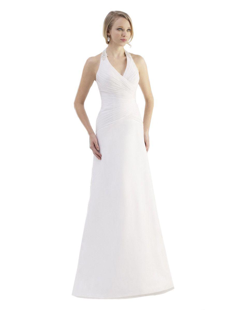 Moonlight tango t halter chiffon wedding dress products
