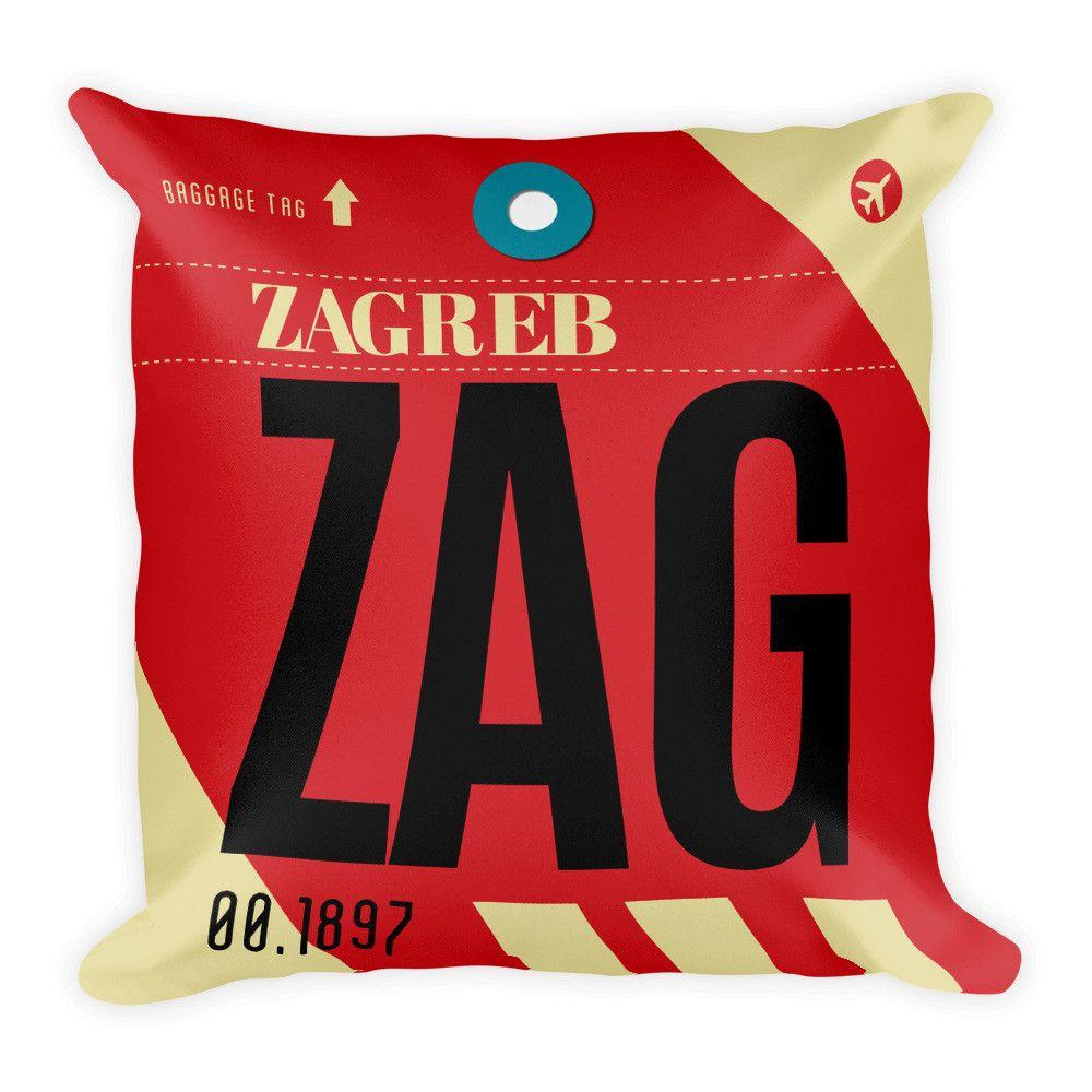 Zag Airport Code Pillow Zags Private Pilot Zagreb