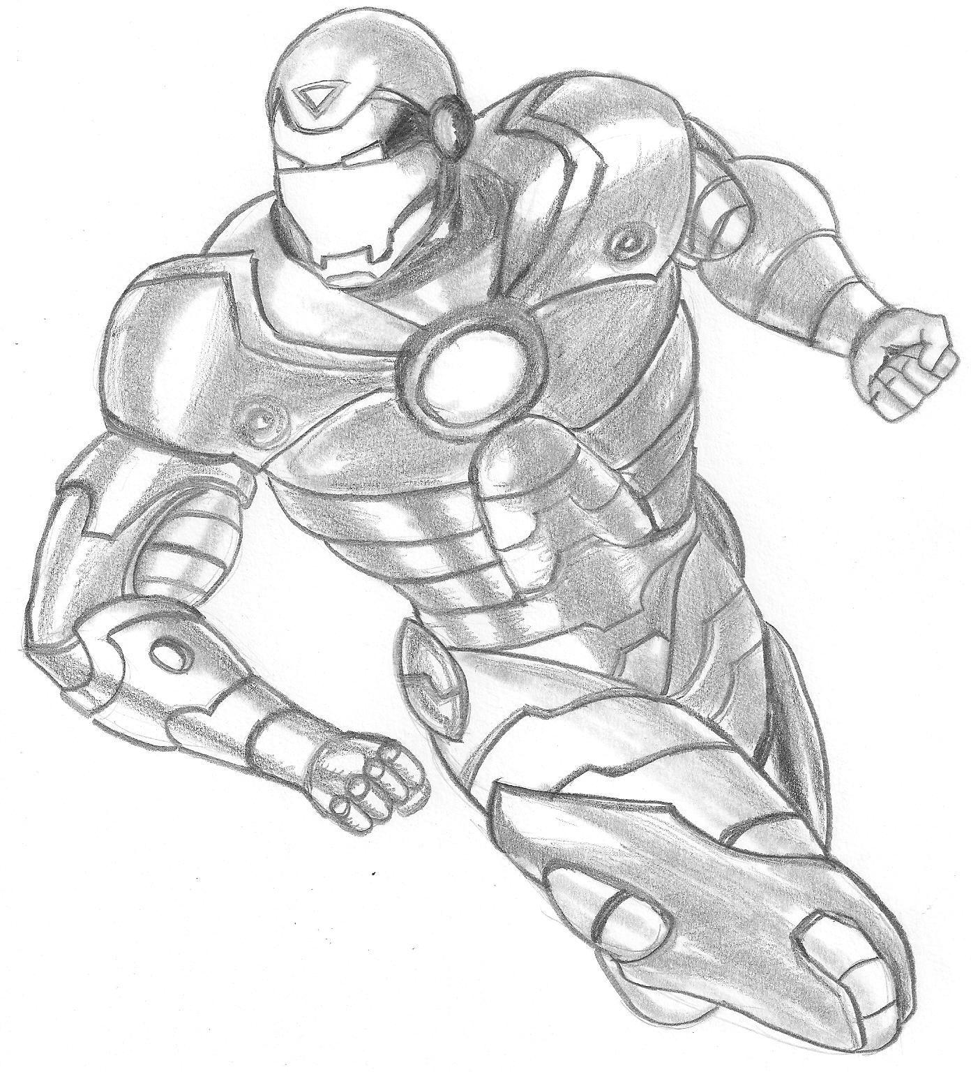 Desenhos Para Colorir o surgiu homem de ferro para copiar