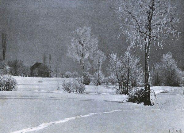 Hermann Linck, Switzerland : Wintersonne. 1908