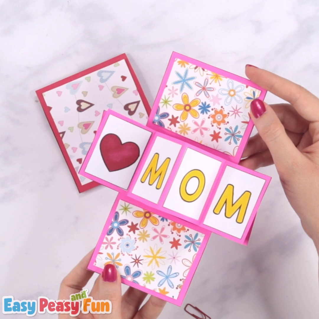Let's take pop up cards to a new level – we are going to show you how to make a twist and pop Mothers day card a super fun paper craft for kids.
