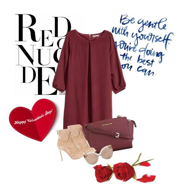 """""""Untitled #179"""" by antonia-226 ❤ liked on Polyvore featuring H&M, MICHAEL Michael Kors, Gianvito Rossi and Linda Farrow"""