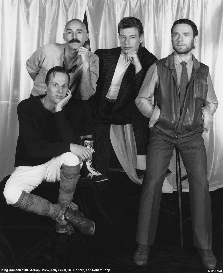 Adrian Belew Tony Levin Bill Bruford And Robert Fripp Tony Levin King Crimson Adrian Belew