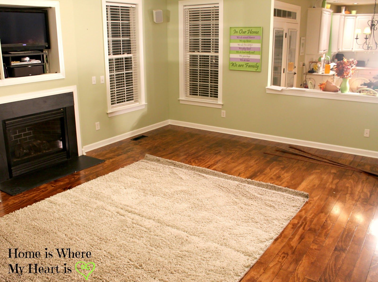 We are laying plywood floors in our family room because we ...