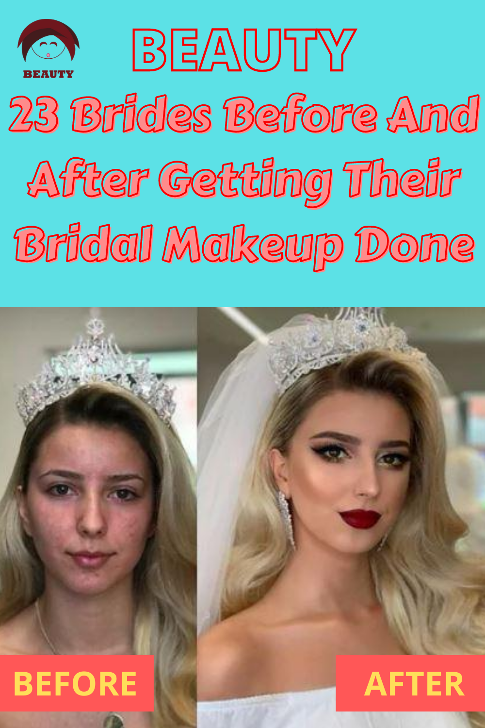 23 Brides Before And After Getting Their Bridal Makeup Done -   13 makeup DIY hacks ideas