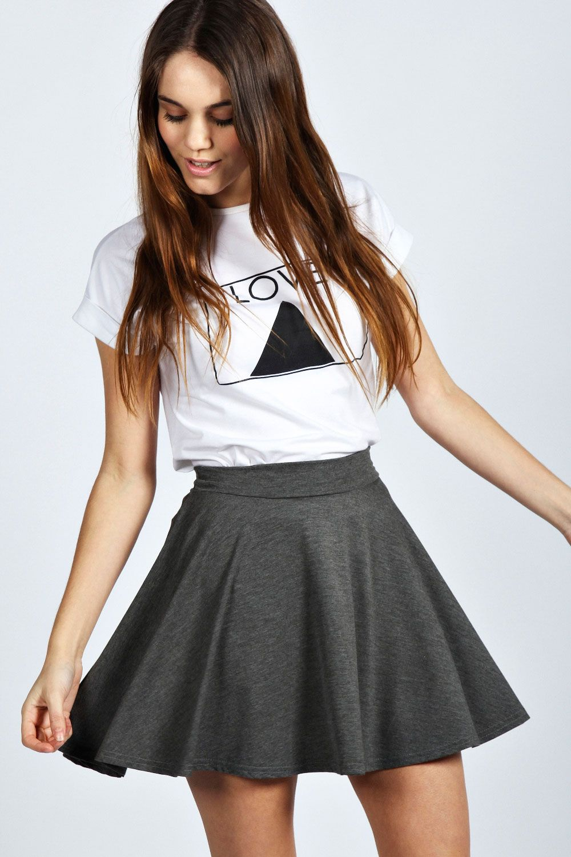 37ae4ef07 Selena Jersey Viscose Skater Skirt