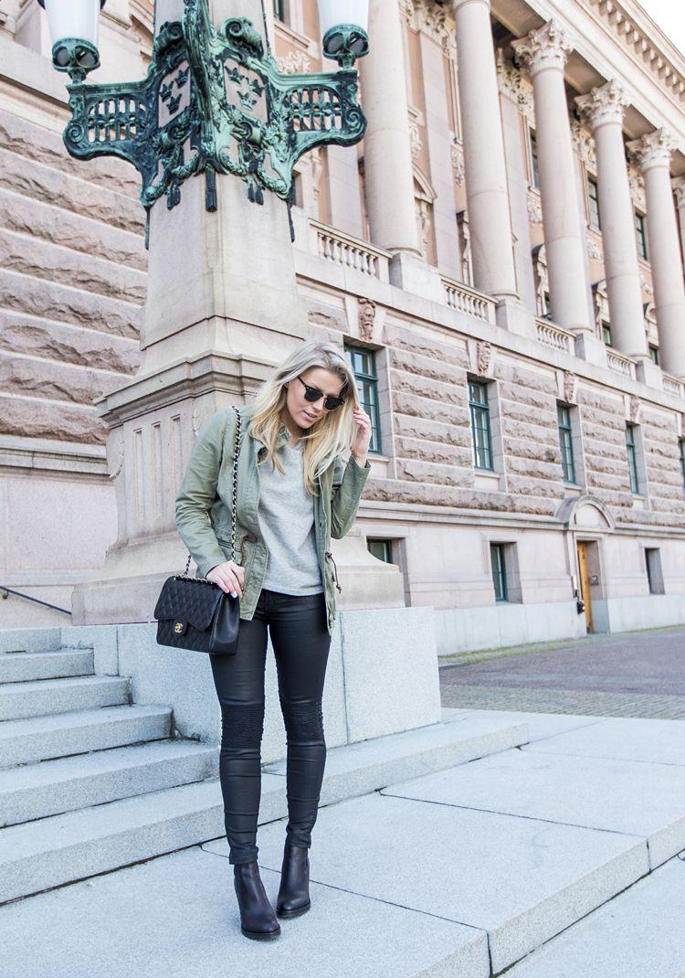 jacket / H&M tee / Kjær København  jeans / Zara sunglasses / Ray Ban bag / Chanel shoes / Acne | Linda Juhola