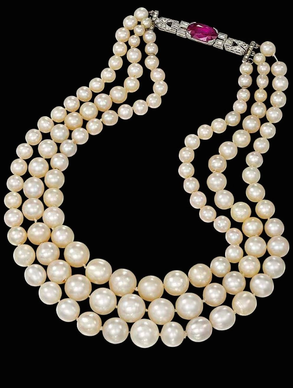 jewel twist pearls necklace villa products classical pearl