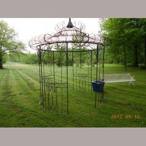 Gloriette En Fer Forge Gloriette Kiosque Jardin Arche Jardin