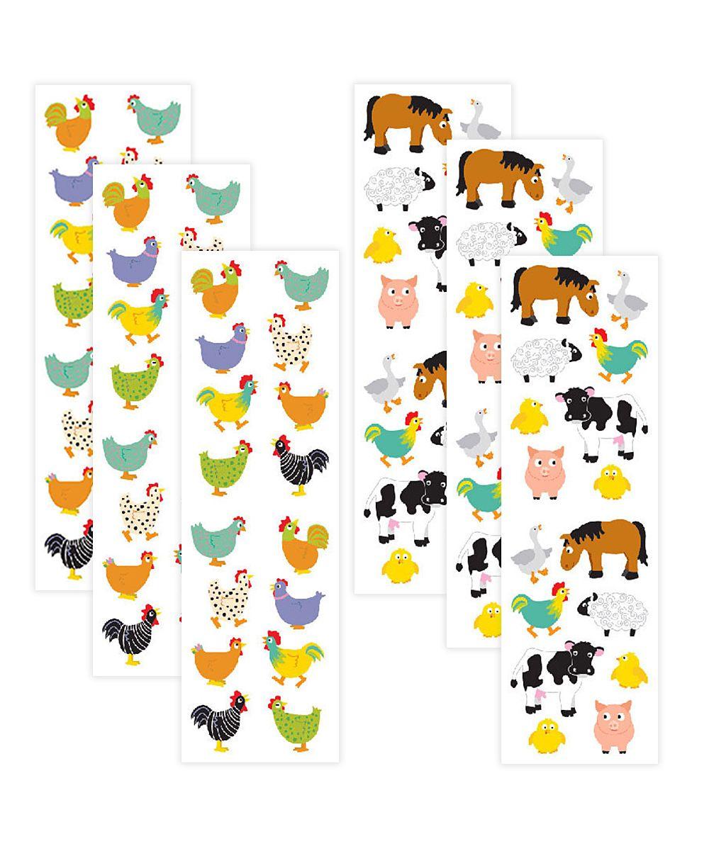 Chubby Chickens & Chubby Farm Animals Sticker Set | Products | Farm