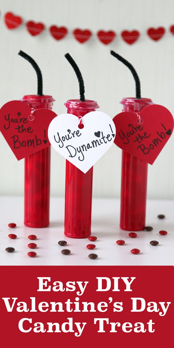 This Easy Diy Valentine S Day Candy Gift Idea Is Great For School Parties Kids Will Love Making And Receiving These Creative Dynamite
