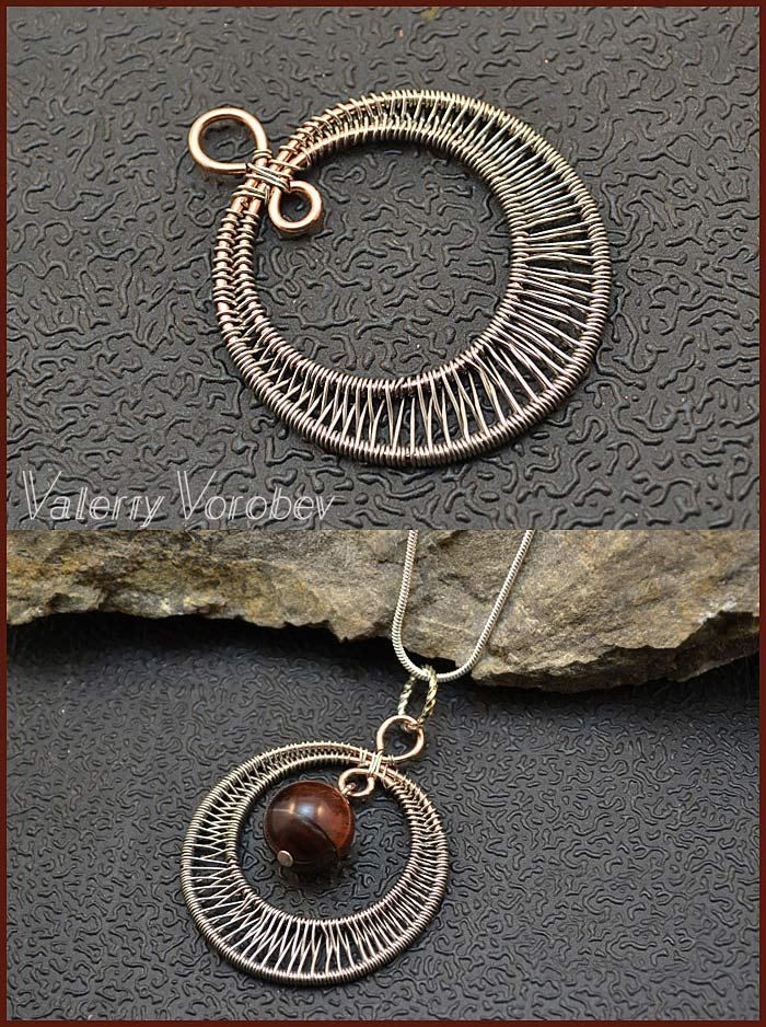 Photo of Wire wrapped pendants. Wire wrap tutorials. – Handmade Jewelry