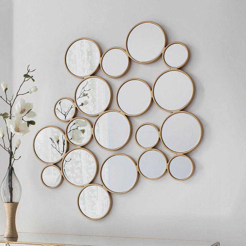 Golden Pebbles Large Wall Mirror Mirror Wall Collage Small Round Mirrors