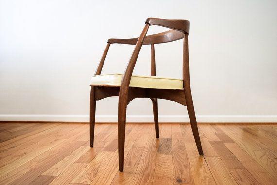 mid century chair danish modern chair striking Lawrence Peabody for Richard Nemschoff mid century modern wooden arm chair vintage & mid century chair danish modern chair striking Lawrence Peabody ...