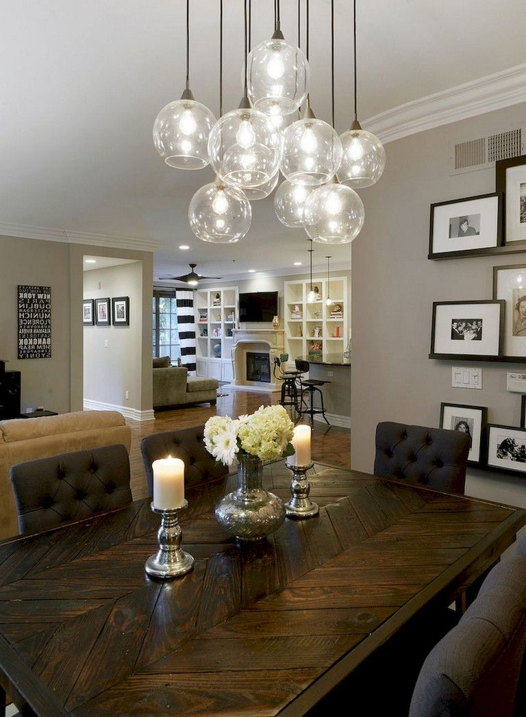 100 Lovely And Elegant Dining Room Chandelier Lighting Ideas