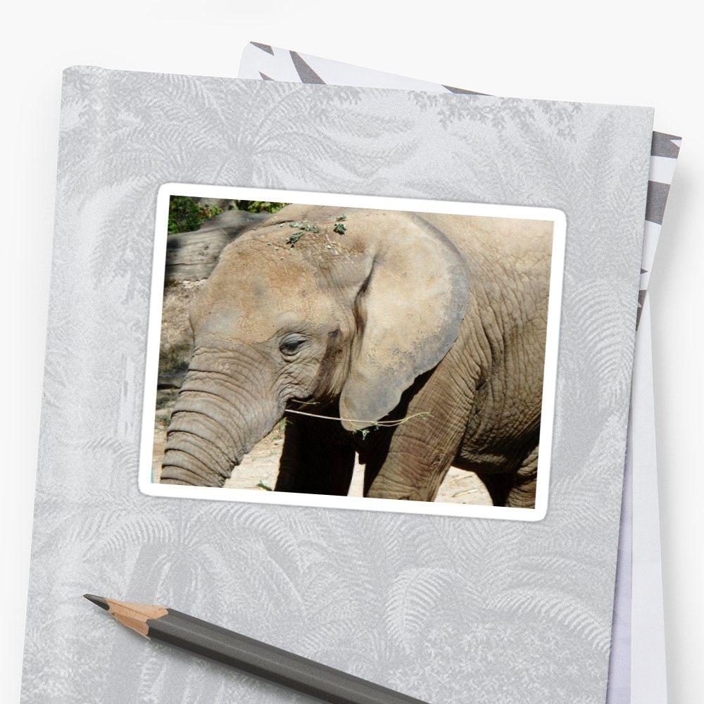 African bush elephant\' Sticker by Danler | Framed print, posters ...