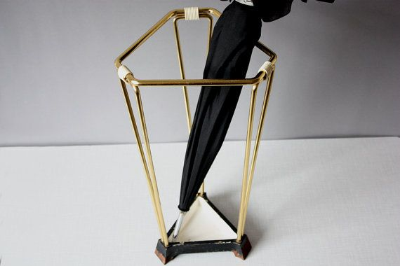 Schirmständer Vintage umbrella stand walking stick holder triangular german original