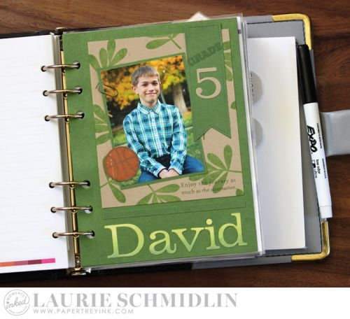 School Dashboard - David by Laurie Schmidlin for Papertrey Ink (August 2016)