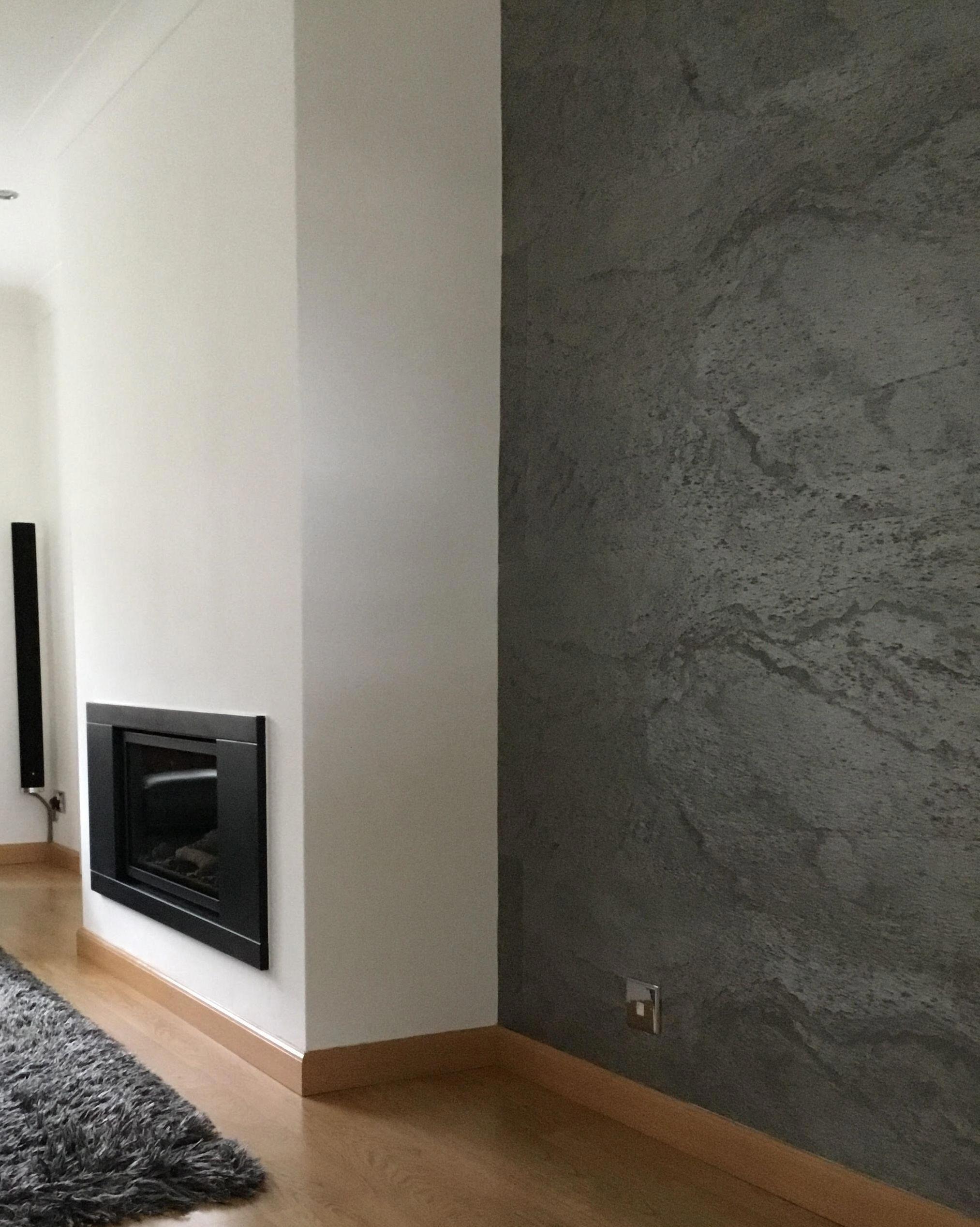 Argento Slate Veneer Living Room Feature