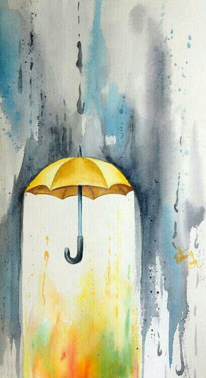 Photo of with something under the umbrella to represent family indivi…