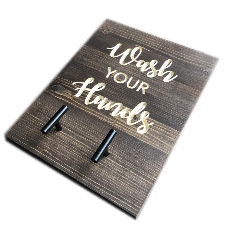 Hand towel holder wash your hands tea towel hooks