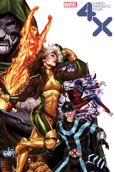 X Men Fantastic Four 2 Of 4 Brooks Variant In 2020 Xmen Comics Marvel Comics Art Fantastic Four