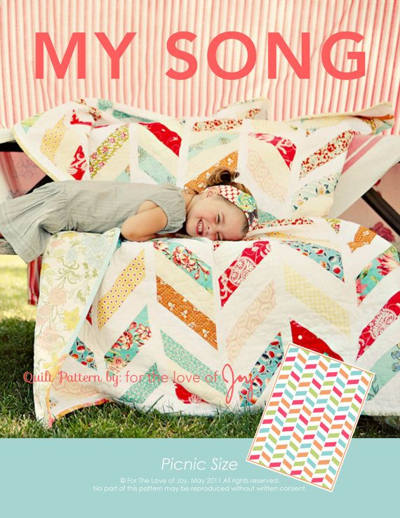 My Song Quilt Pattern by fortheloveofjoy on Etsy, $8.00
