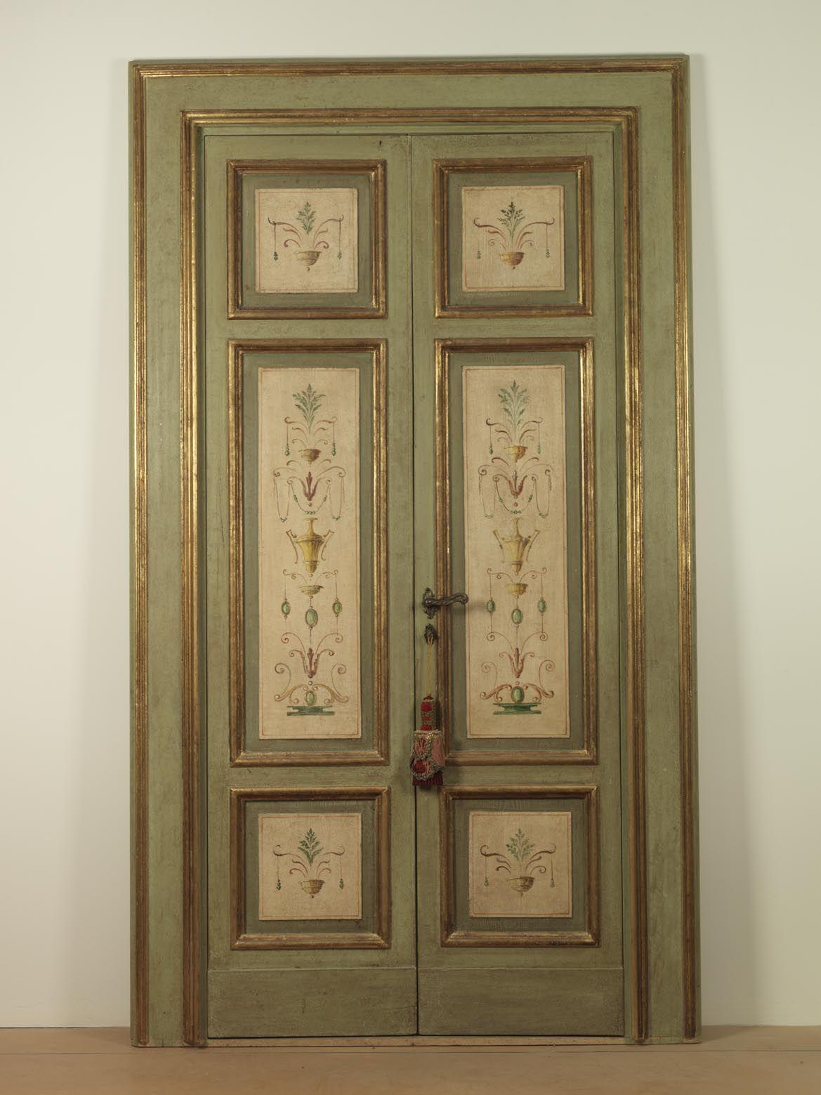 Riproduzione di una porta della ii met dell 800 con for Porte interne antiche