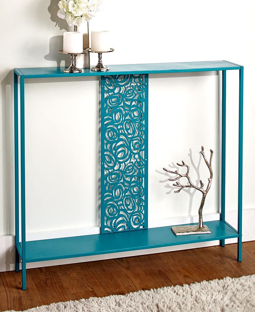 Space saving hallway furniture  Slim Metal Console Tables  Hallway  Pinterest  Room Console
