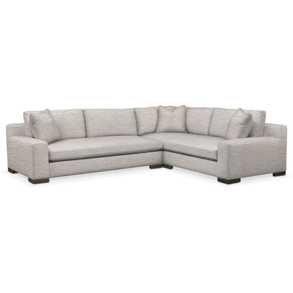 Ethan 2 Piece Large Sectional Value City Furniture Sectional Large Sectional