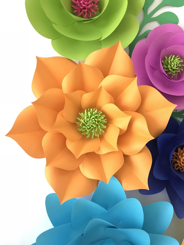 Paper flower template svg 3d flower svg paper flowers svg