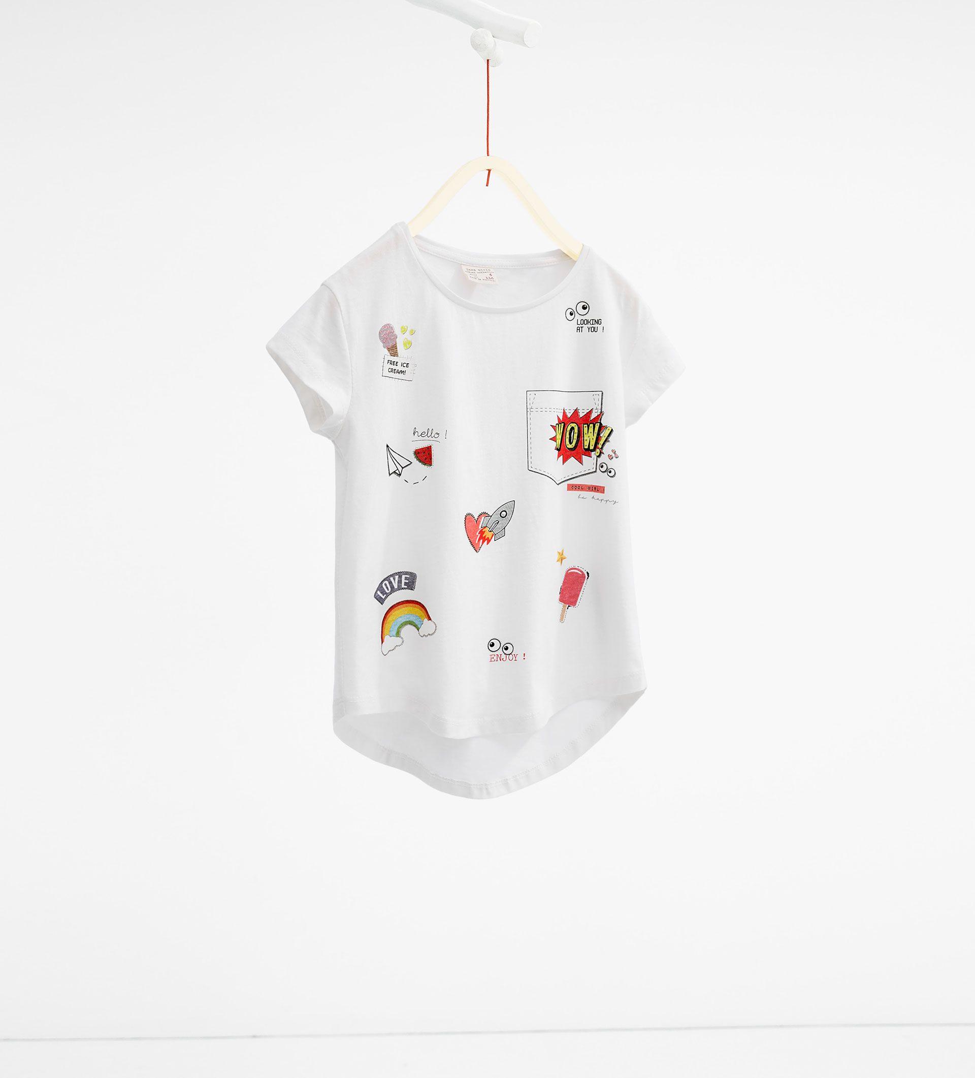45e6d88972ac2 Heart print T - shirt - T - SHIRTS - GIRL