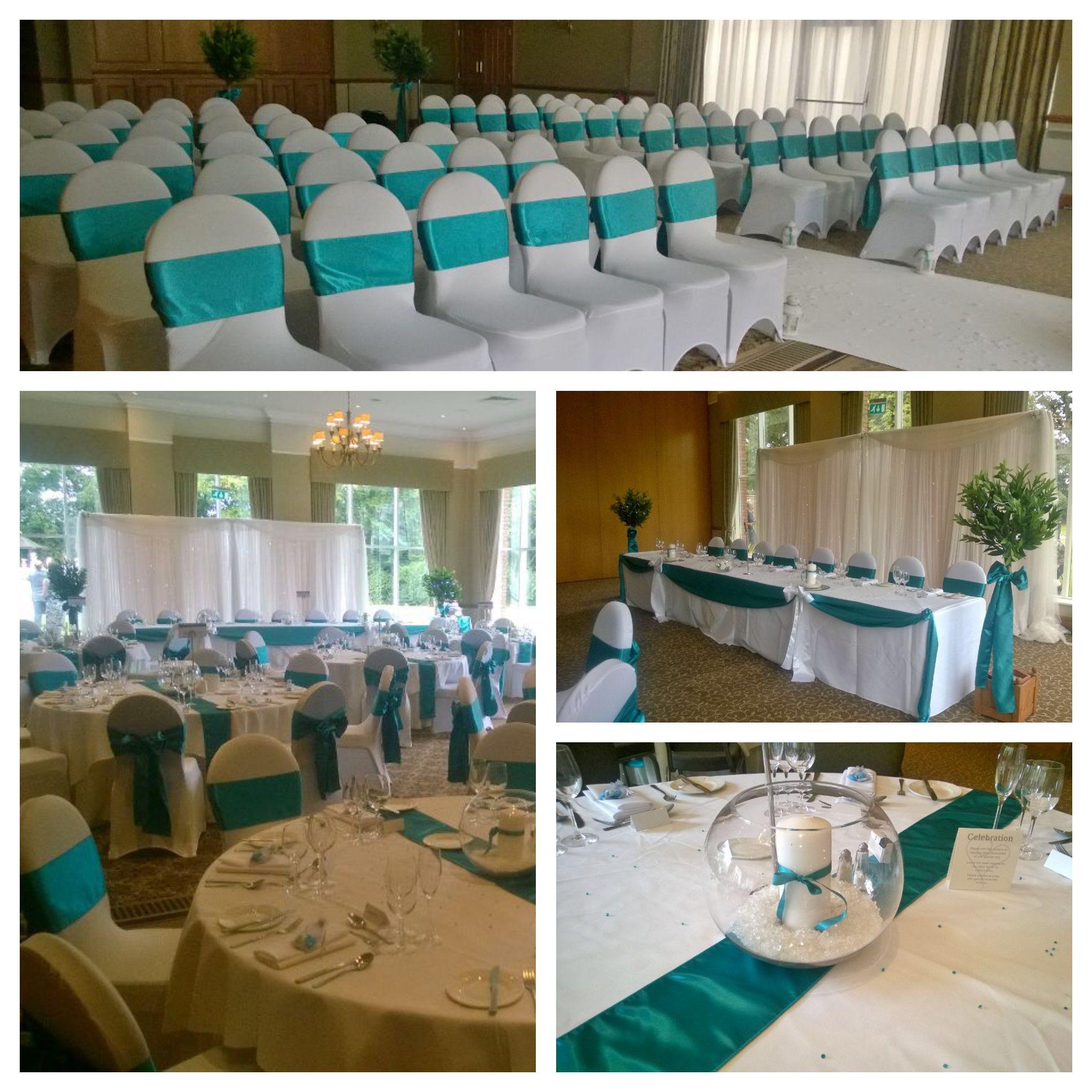 A beautiful turquoise wedding