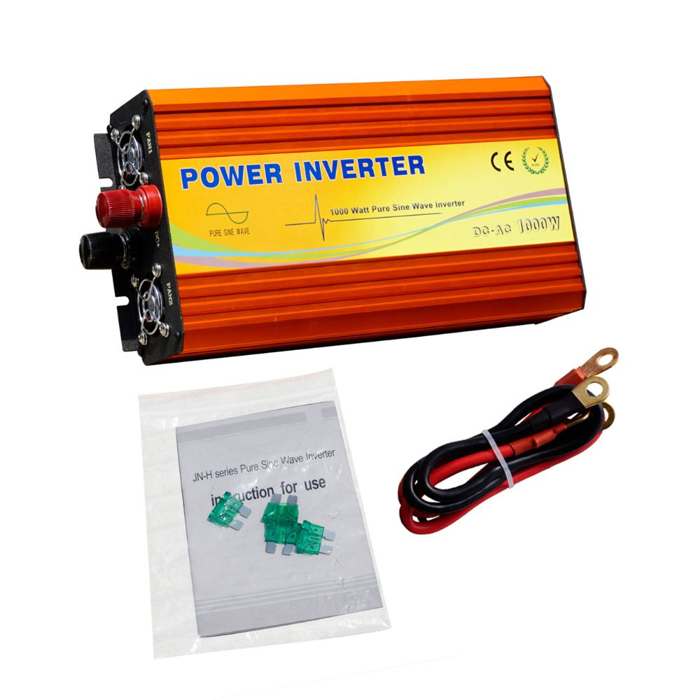Eco Sources 1000w Inverter 12v To 220v Off Grid 1kw Auto Power Source For Solar Panel System