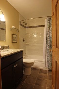 i love bowed shower curtain rods. they make a normal