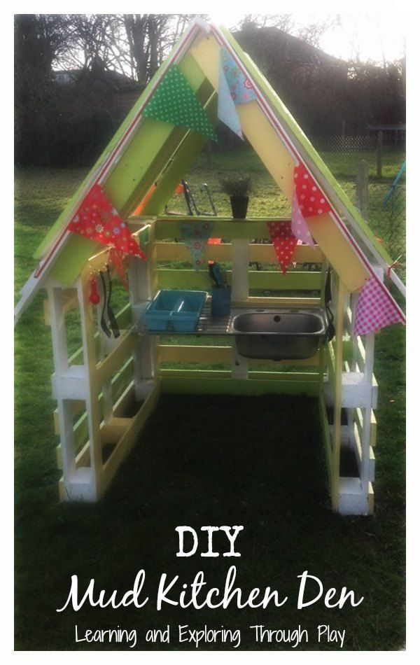 Learning and Exploring Through Play: DIY Mud Kitchen.