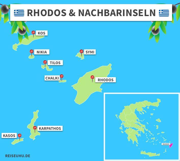 rhodos karte griechenland Urlaub auf Rhodos: die Griechische Sonneninsel entdecken in 2020
