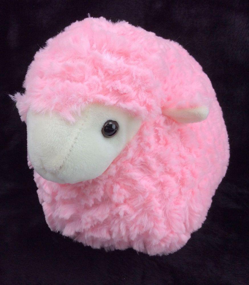Best Made Toys Pink Sheep Lamb Round Plump Plush Stuffed Animal 12