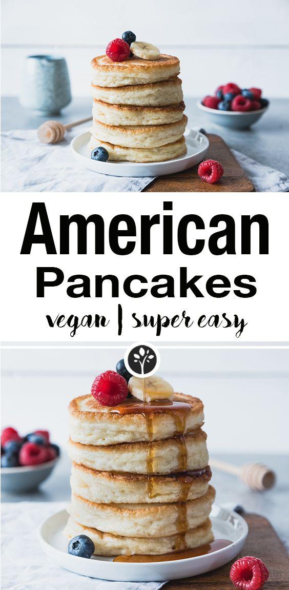 Photo of Vegan American pancakes