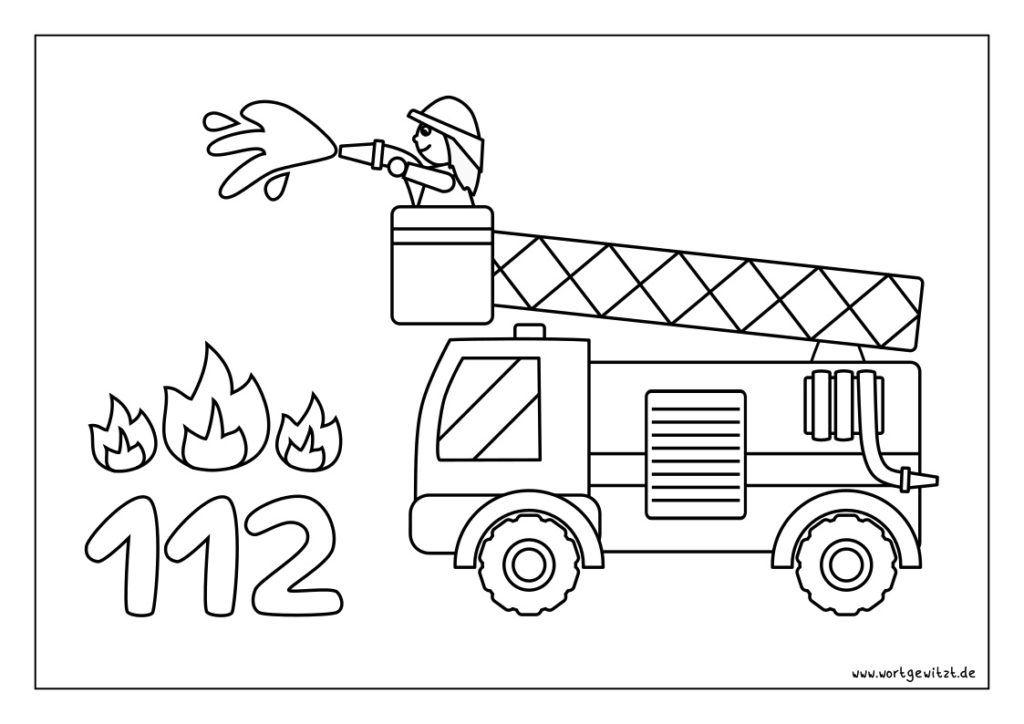 Ausmalbilder Fahrzeuge Wortgewitzt In 2020 Ausmalen Ausmalbilder Feuerwehr Malvorlagen Fur Kinder Zum Ausdrucken