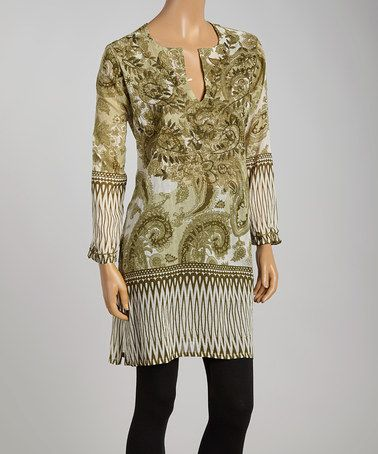 This Olive Paisley Tunic is perfect! #zulilyfinds