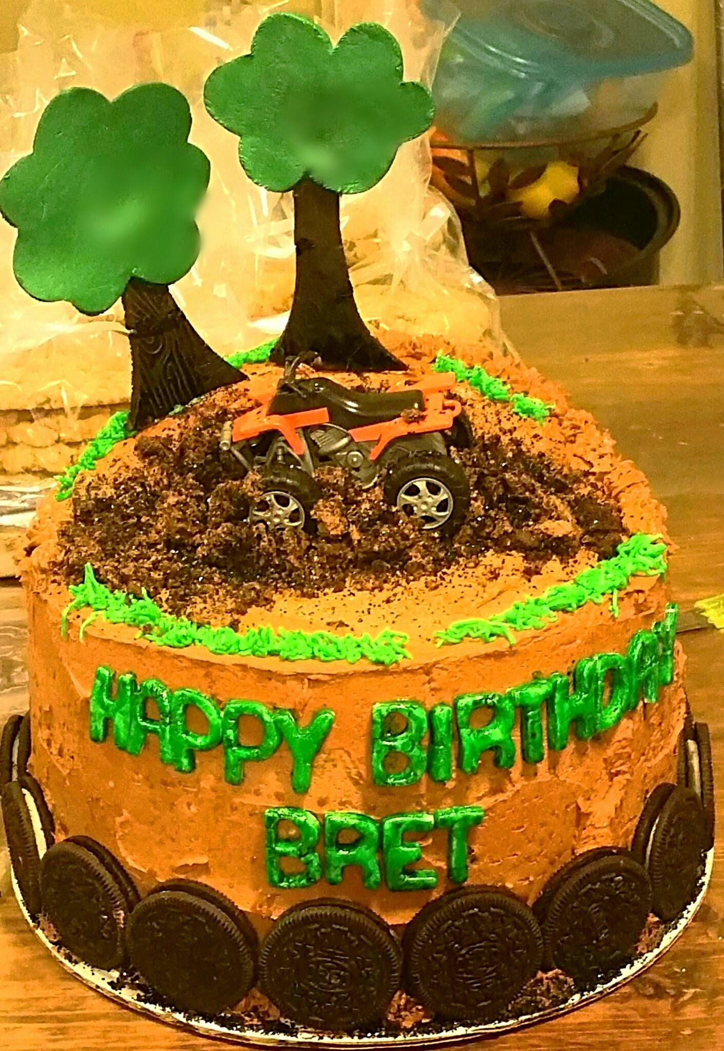 Swell Gone Mudding Chocolate Cake With Cookies And Cream Filling Funny Birthday Cards Online Aboleapandamsfinfo