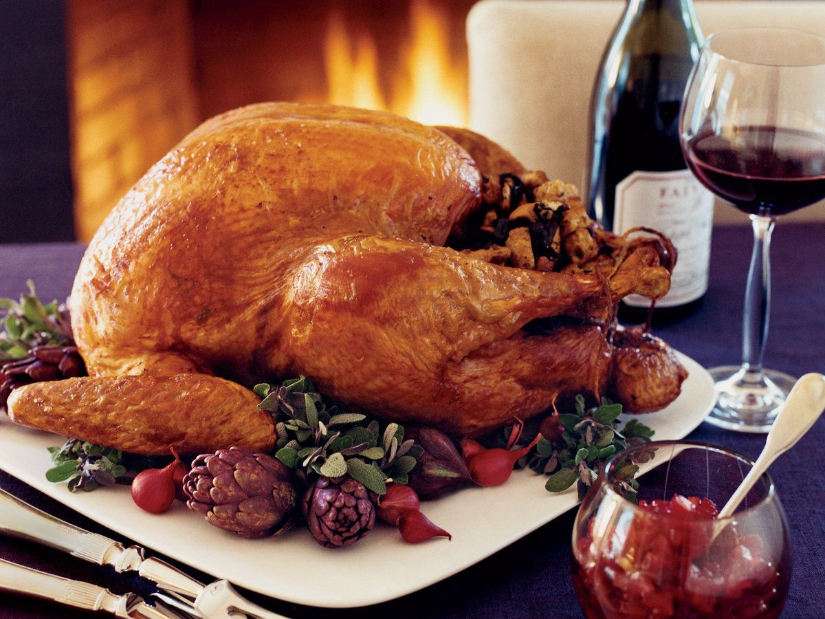 Roast Turkey With Chestnut Apple Stuffing Recipe Recipe In 2020 Best Wine For Thanksgiving Thanksgiving Meal Planner Stuffing Recipes