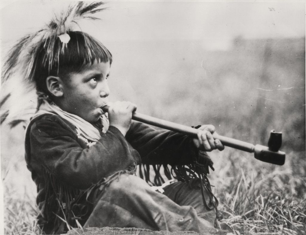 Image result for indian boy peace pipe